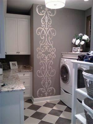 decoração alice no país das maravilhas lavanderia