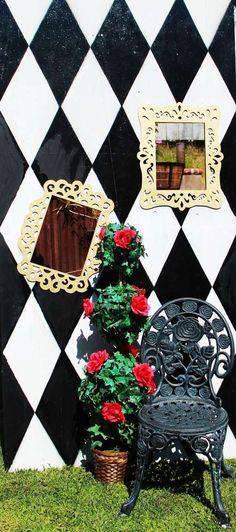 decoração alice no país das maravilhas varanda