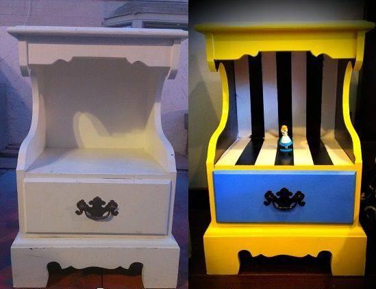 objetos decoração alice no país das maravilhas móveis