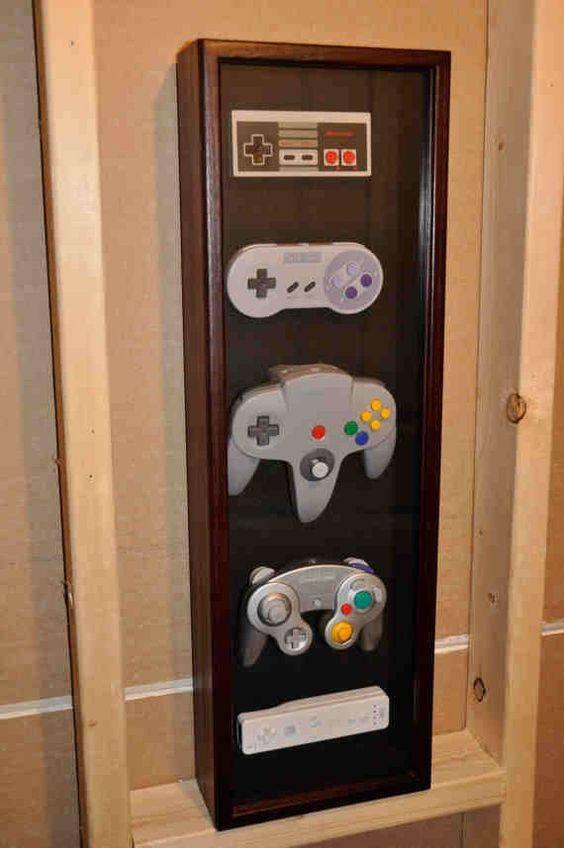 decoração geek nintendo video game