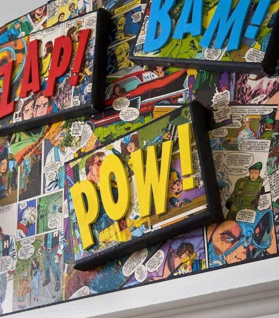 decoração geek quadrinhos