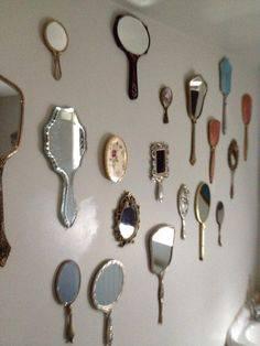 objetos decoração alice no país das maravilhas espelhos