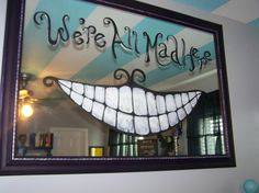 decoração alice no país das maravilhas espelho