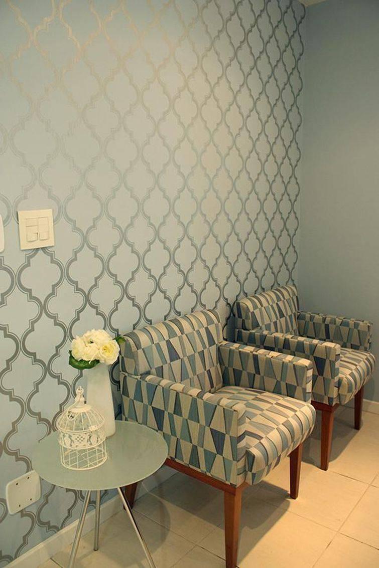 Decora o com papel de parede 30 modelos incr veis dicas for Sala de estar com papel de parede 3d