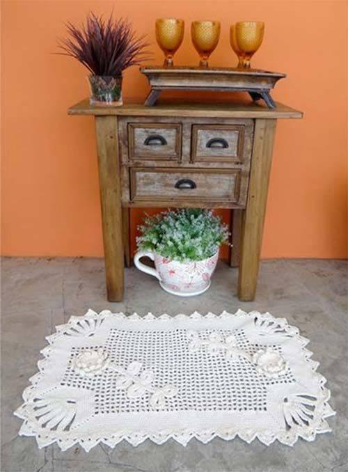 Tapetes de Barbante para cozinha no aparador