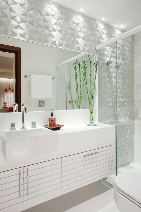 Banheiros decorados para ambiente clean