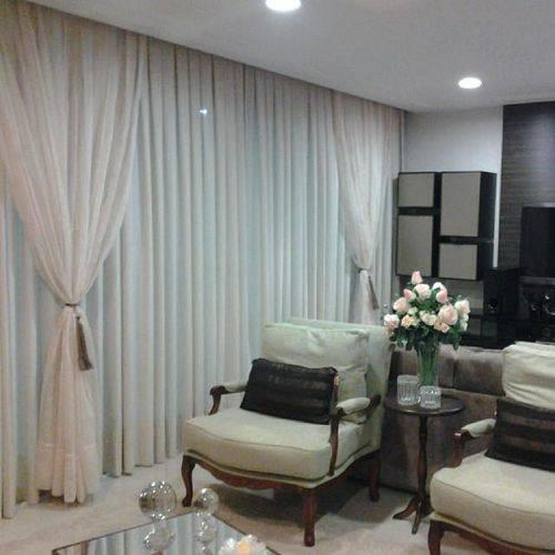 86 cortinas para sala ficar um ambiente lindo for Estilos de cortinas