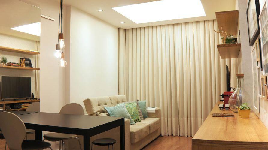 86 cortinas para sala ficar um ambiente lindo - Cortinas interiores casa ...