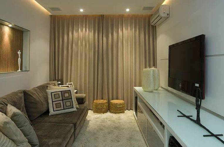 Para sala pequena cortinas for Cortinas blancas para sala
