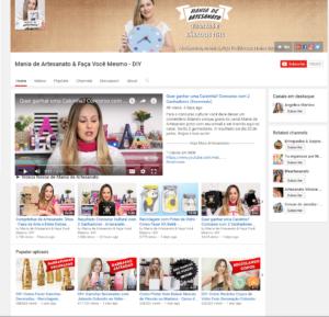Mania de Artesanato Faça Você Mesmo DIY YouTube Canais de decoração