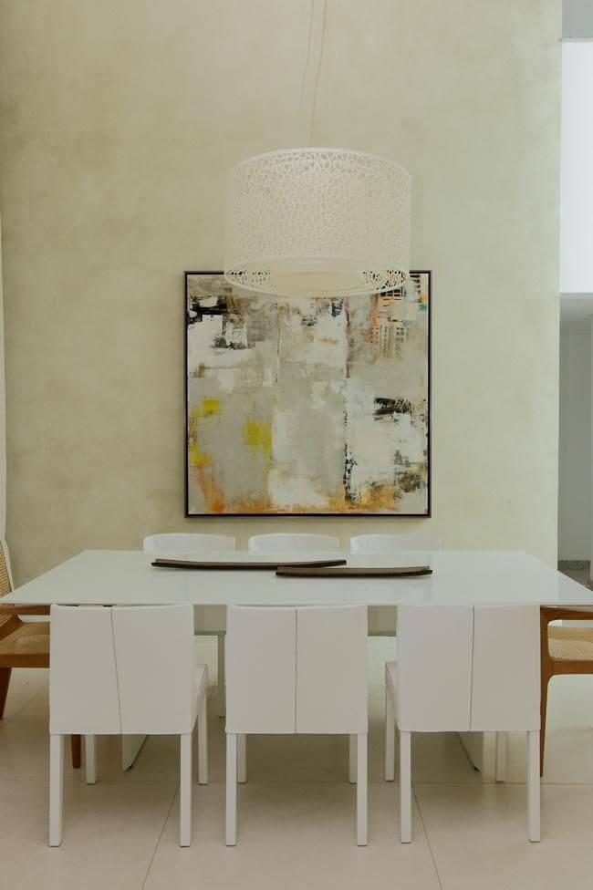 Quadros para sala abstrato com cores que combinam com a decoração Projeto de Rodrigo Fonseca
