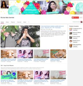 Ricota Não Derrete YouTube Canais de decoração