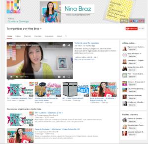 Tu organizas por Nina Braz YouTube Canais de decoração