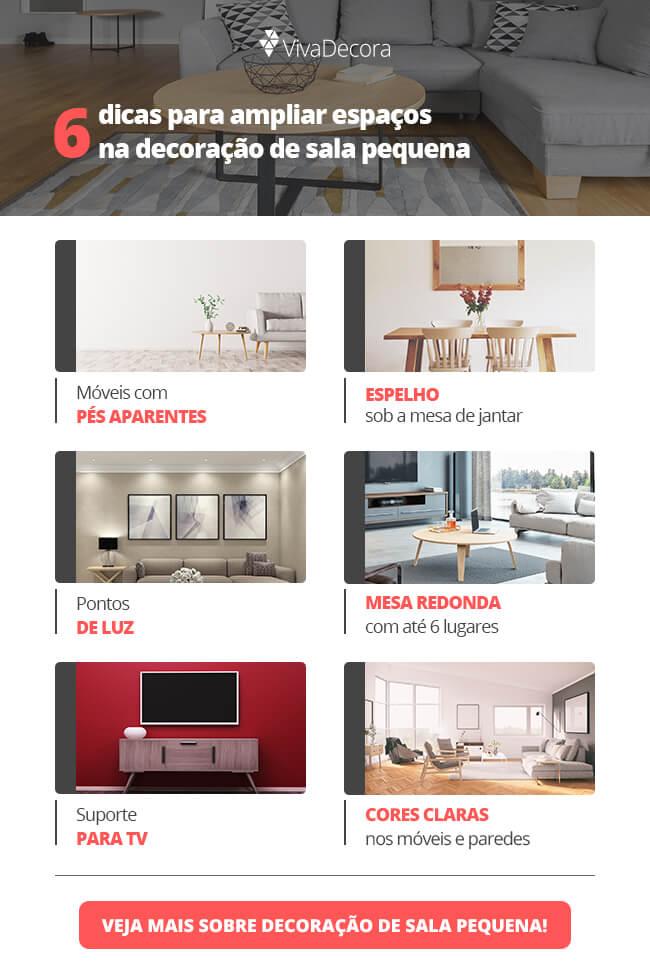 Infográfico - Decoração para Sala Pequena
