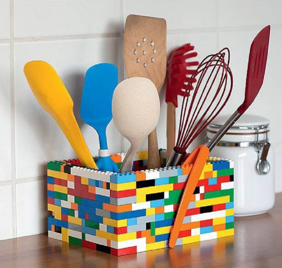 enfeites para cozinhas escorredor de legos