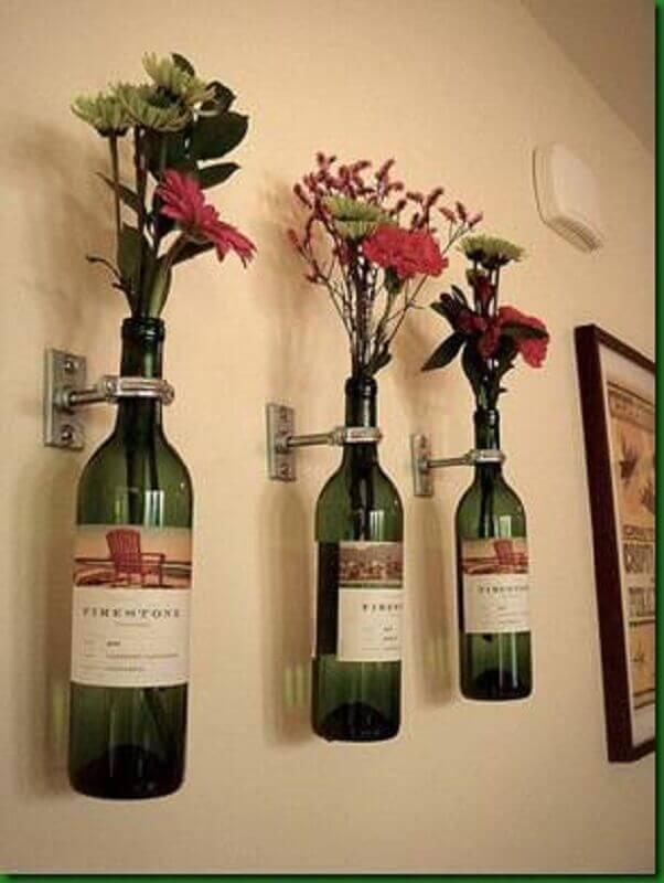 enfeites para cozinhas garrafa de vinho como vaso