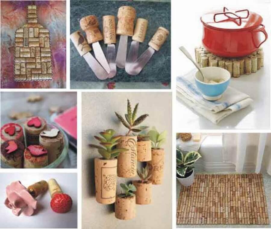 Modelos de enfeites para cozinhas com rolhas