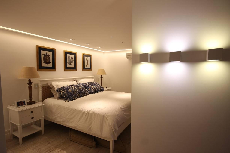 iluminação para quarto de casal com arandelas