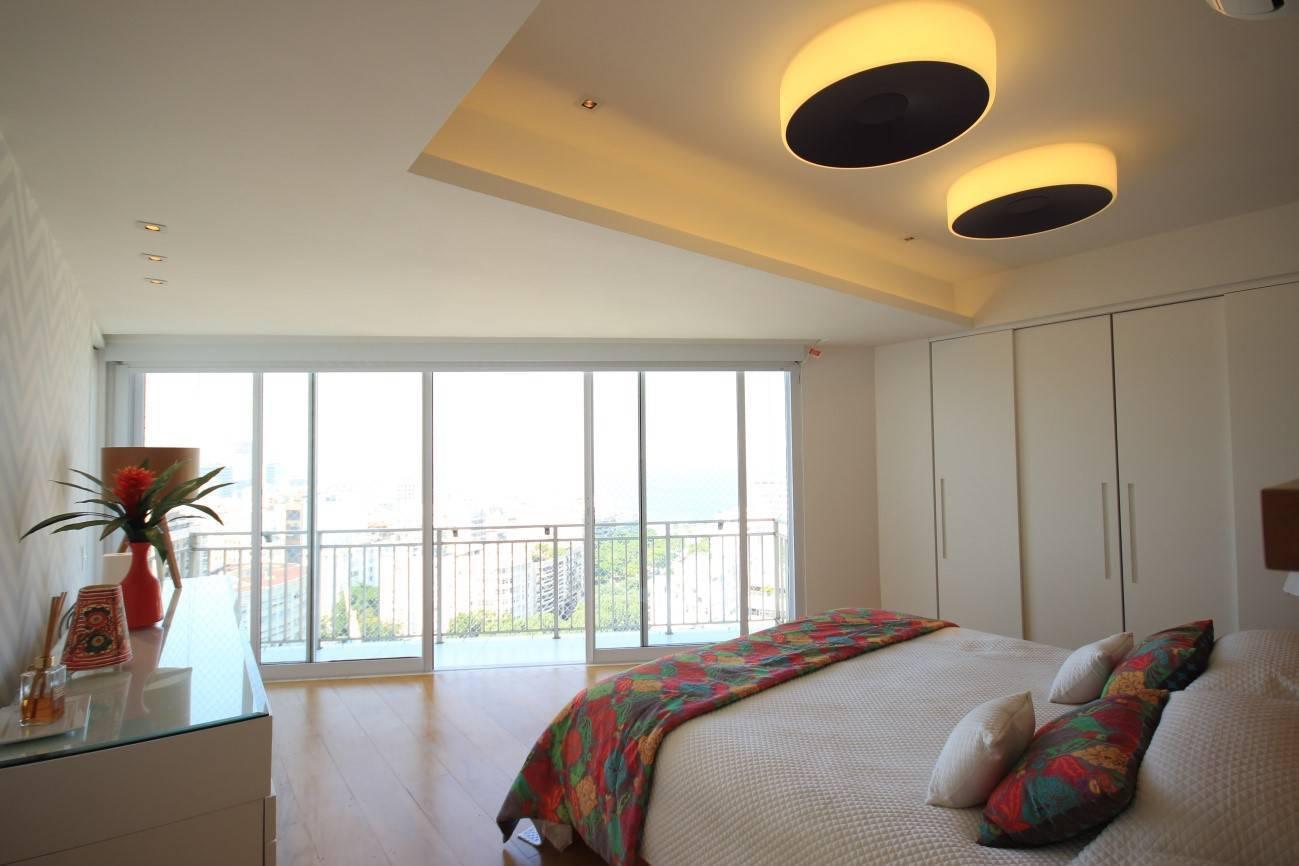 iluminação para quarto de casal com plafon