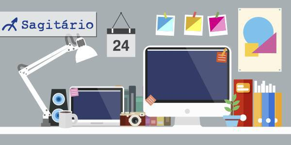 mesa de trabalho de cada signo
