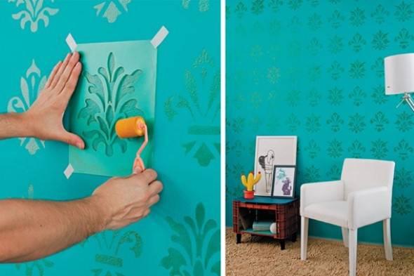pintura de parede proteção como pintar uma parede stencil