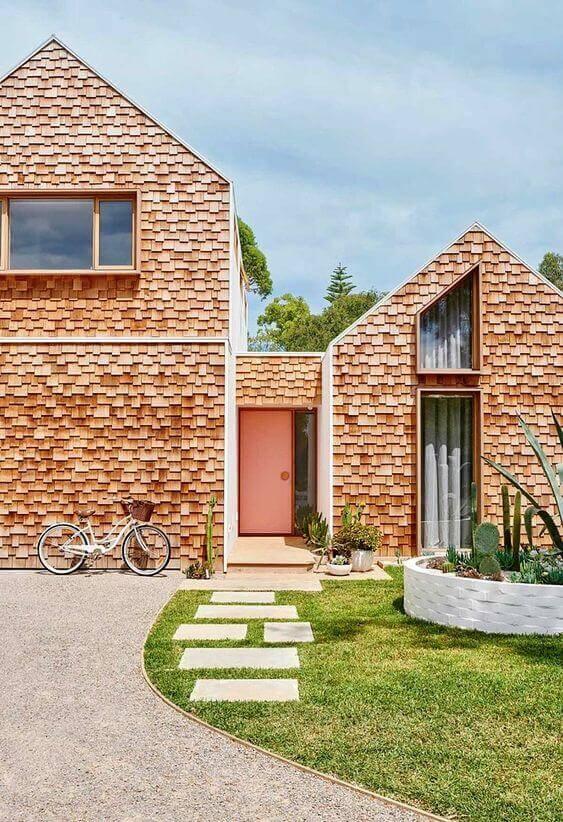 Fachadas modernas com tijolinhos