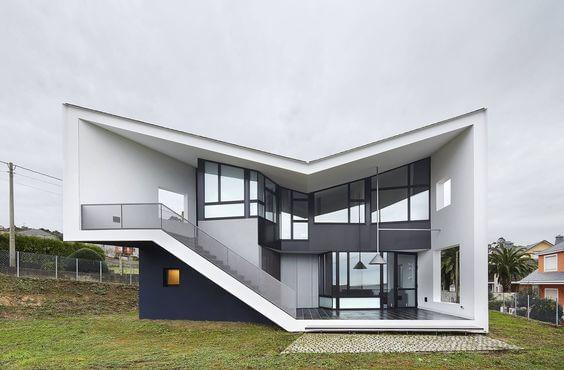 Fachadas modernas com design diferenciado