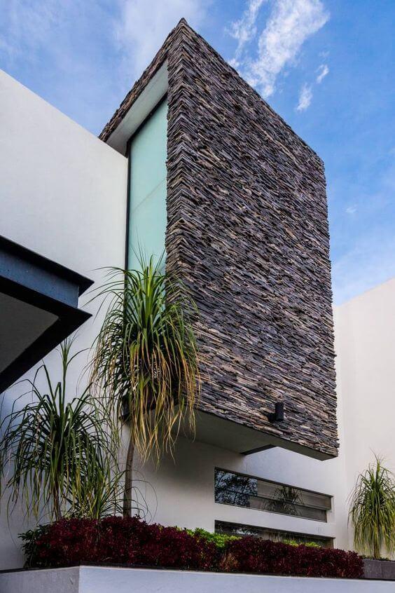 Fachadas modernas com pedras