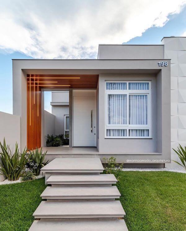 Fachadas modernas em cinza