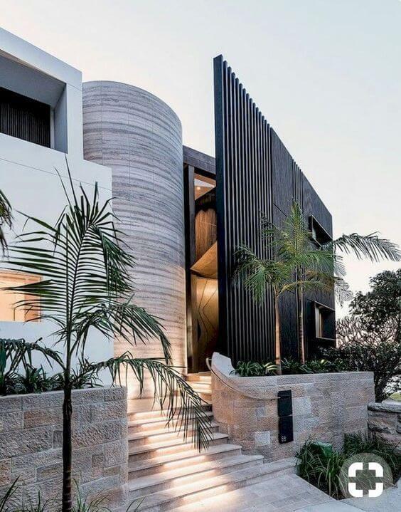 Fachadas modernas com muro diferente