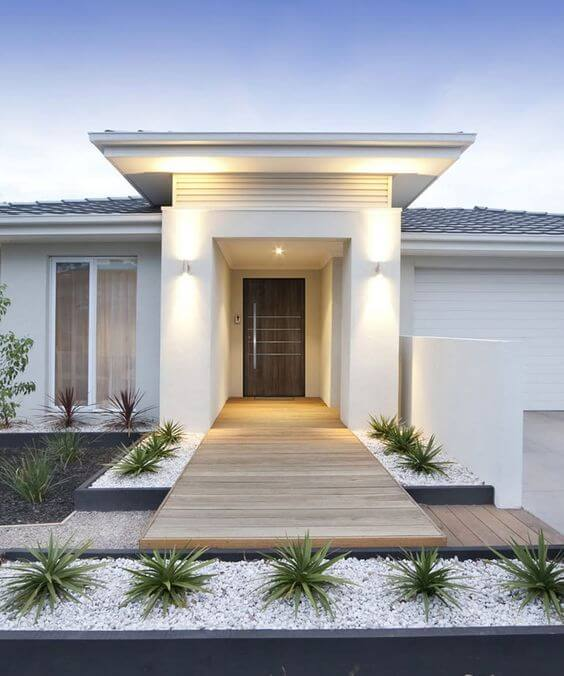 Fachadas modernas e simples