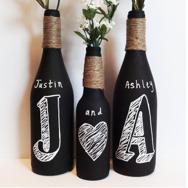 Ideias para uma decora o com reciclagem - Decoracion con botellas ...