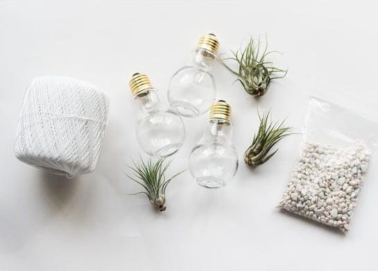 lampada de vaso 1 Decoração com Reciclagem