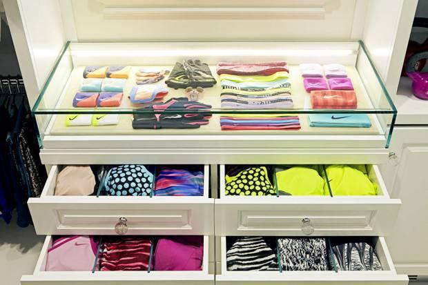 organização de gavetas closet pequeno