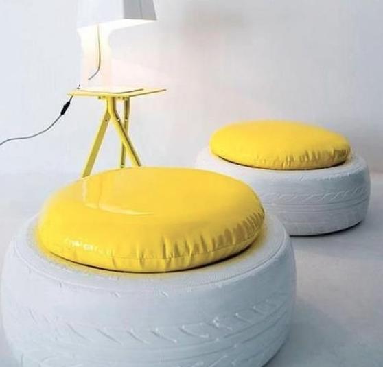 pneu banco Decoração com Reciclagem