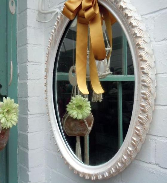 pneu espelho Decoração com Reciclagem