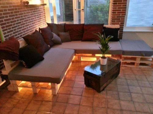 Sof de palete diy passo a passo 37 inspira es lindas - Paletten wohnzimmer ...