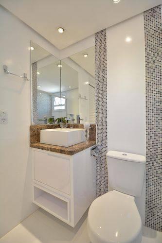44 banheiros modernos dicas para reforma for Sanitarios bano baratos