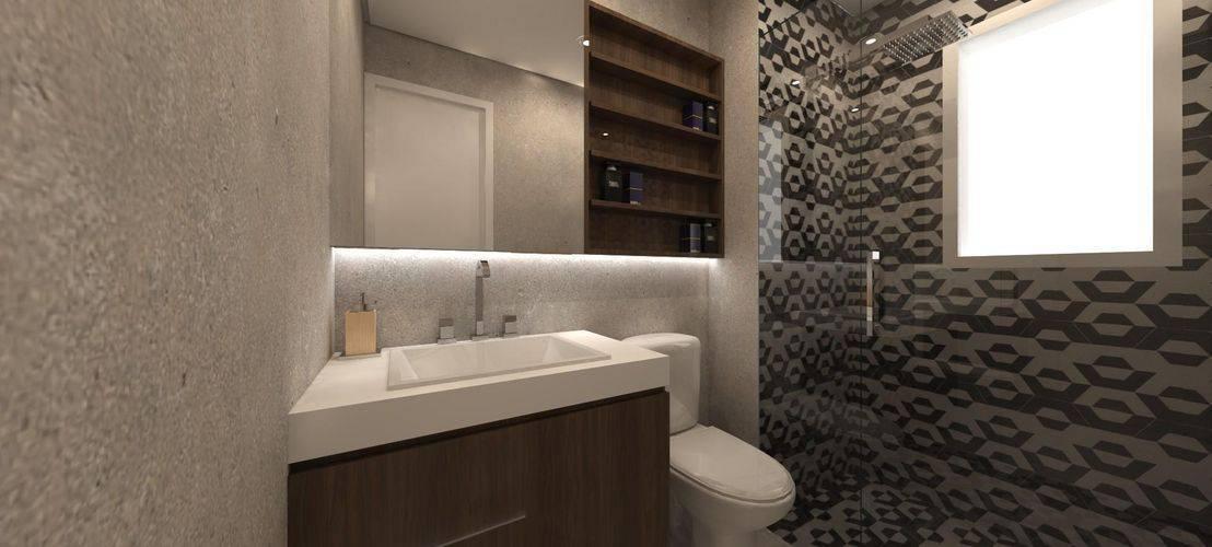 Banheiros modernos pretinho