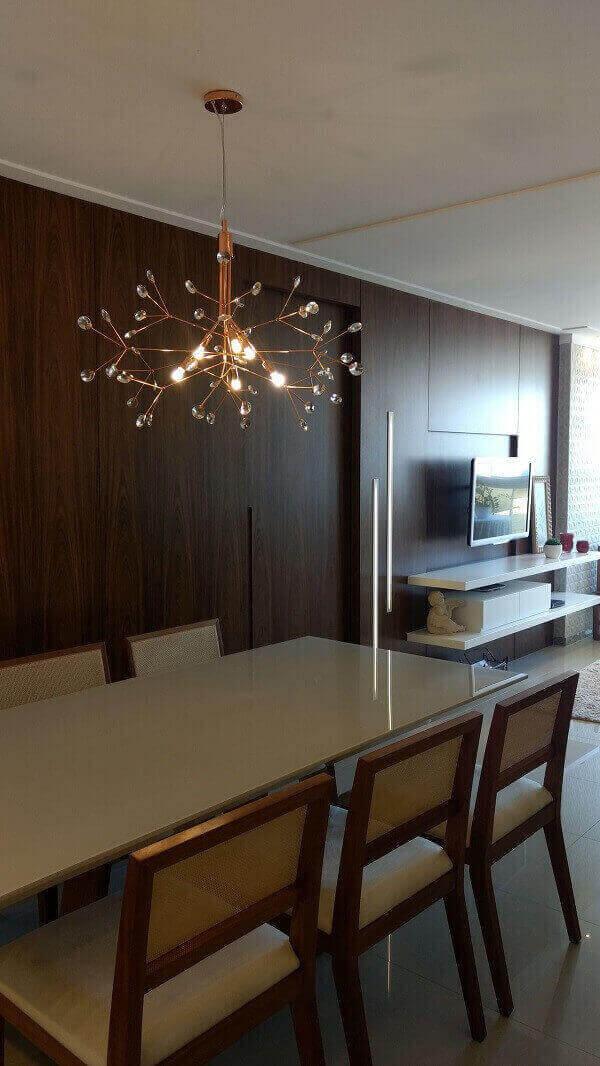 Lustre para sala de cobre