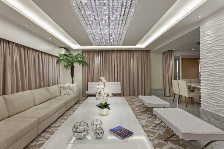 Lustres para sala compridos Projeto de Iara Kilaris