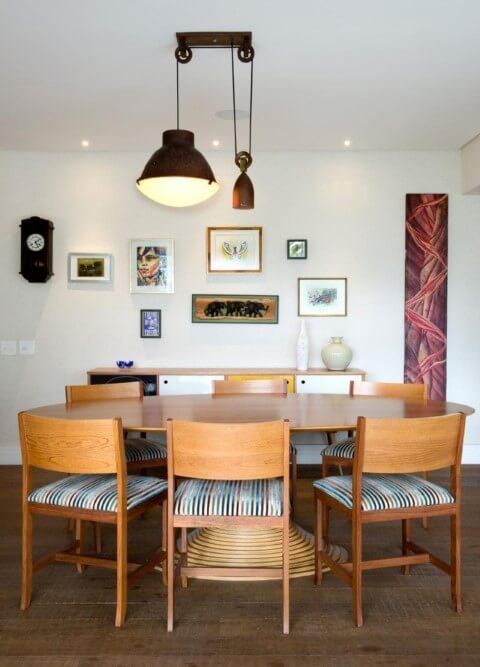Lustres para sala discreto Projeto de Crisa Santos Arquitetos