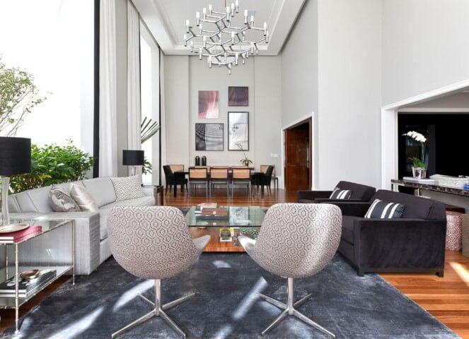 Lustres para sala moderno Projeto de Luciano Dalla
