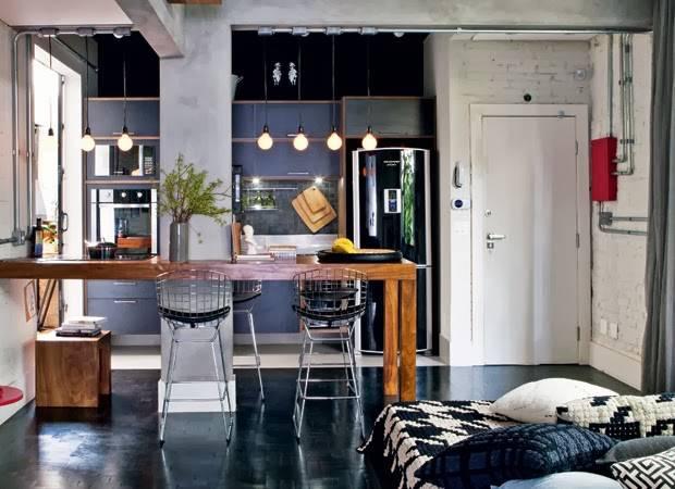 Decoração para Apartamento Compartilhado com Cores escuras