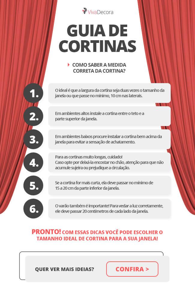 Infográfico - guia de cortina