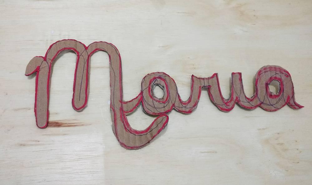 letras para decoração nome feito com papelão 2