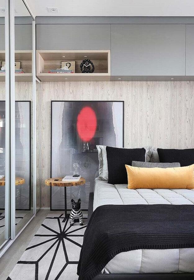 quarto de casal pequeno planejado moderno Foto Pinterest