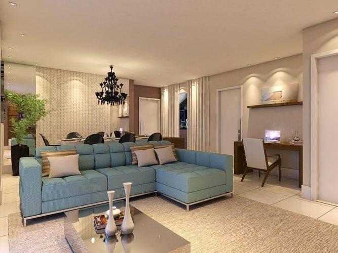 Sala pequena decorada com sofa retratil for Sofa para sala de tv