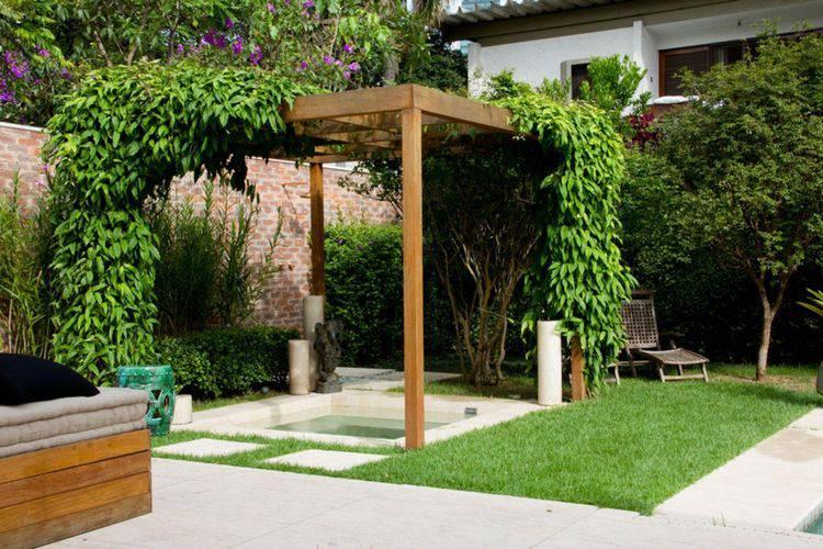 Passo a passo pergolado de madeira 30 modelos lindos for Jardines redondos pequenos