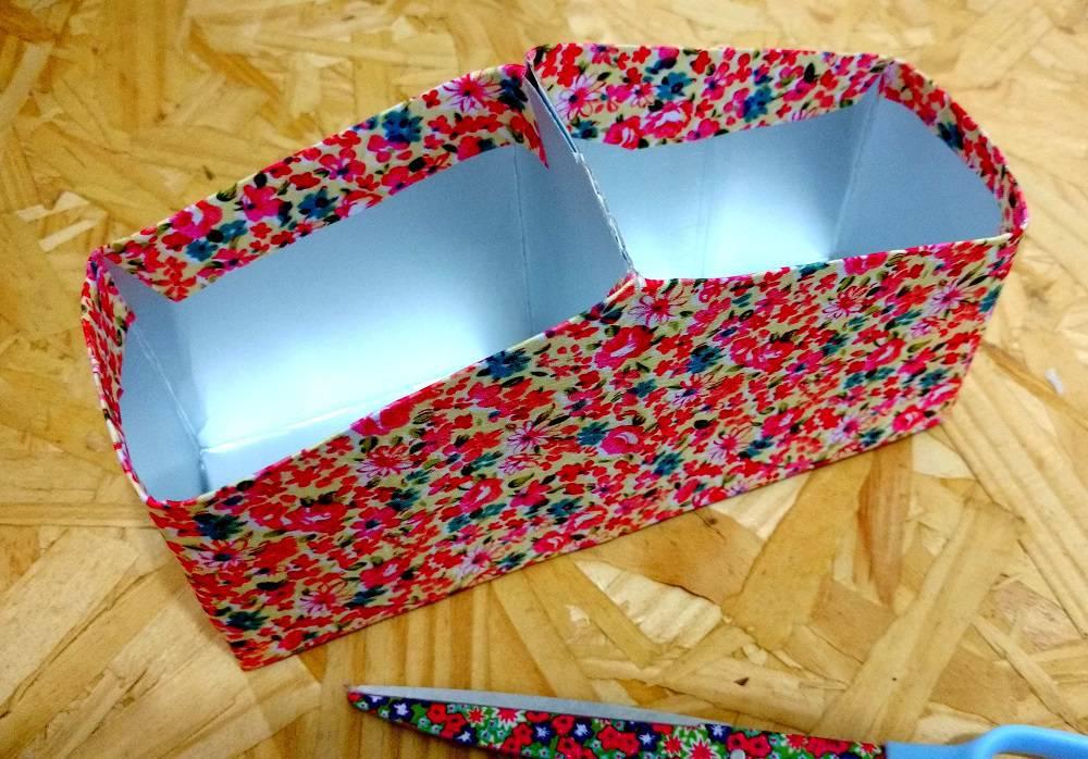 Artesanato com Caixa de Leite 6 organizador